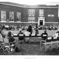 Playground dedication ceremonies at the Edwards School, Beverly, Mass.