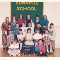 Class pictures from the Abraham Edwards Elementary School