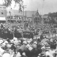 President Taft speaking at the laying of the cornerstone, Beverly YMCA