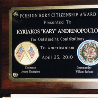 """Outstanding Contributions to Americanism"" Award"
