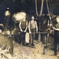 Workers at the foundry on Water Street