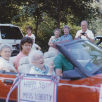 Mrs. Hutchinson in the horribles parade