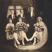 My grandparents on their wedding day : the Roaring Twenties