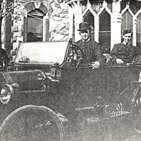 Early auto at St. John's Prep with brothers and students