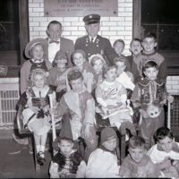 Halloween at the Central Fire Station, 1952