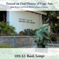 Toward an oral history of Cape Ann : Reed, Lempi