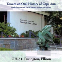 Toward an oral history of Cape Ann : Purington, Ellison