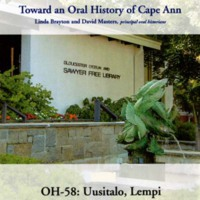 Toward an oral history of Cape Ann : Uusitalo, Lempi