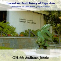 Toward an oral history of Cape Ann : Auditore, Jennie