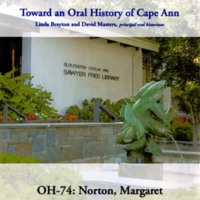 Toward an oral history of Cape Ann : Norton, Margaret