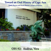 Toward an oral history of Cape Ann : Andrus, Vera