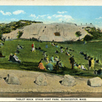 Tablet Rock, Stage Fort Park, Gloucester, Mass.