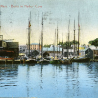 Gloucester, Mass, boats in harbor cove