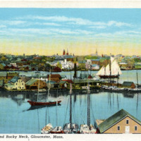 The harbor and Rocky Neck, Gloucester, Mass.