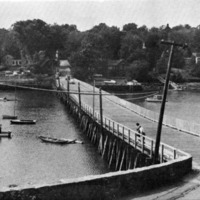 The bridge over Lobster Cove, Bridgewater Street, Annisquam, Cape Ann, Massachusetts