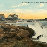 Gloucester, Mass., Bass Rocks, along the shore