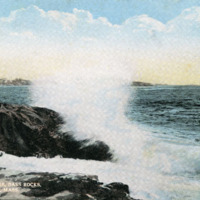 Surf at Crow Ledge, Bass Rocks, Gloucester, Mass.