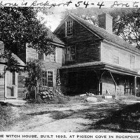 The Witch House, built 1692, at Pigeon Cove in Rockport, Mass.