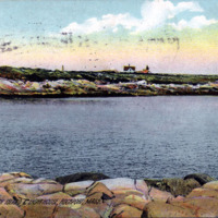 Straitsmouth Island and Lighthouse, Rockport, Mass.