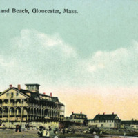 Surfside Hotel and beach, Gloucester, Mass.