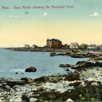 Gloucester, Mass., Bass Rocks showing the Mooreland Hotel