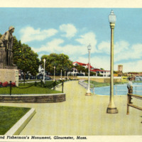 Stacey Blvd. and Fisherman's Monument, Gloucester, Mass.