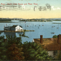 Annisquam, Mass., Yacht Club house and river view