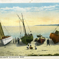 Italian fishing boats, Gloucester, Mass.