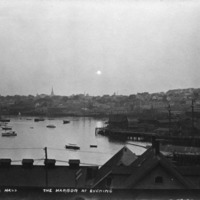 Gloucester, Mass., the harbor at evening