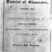 List of vessels belonging to the district of Gloucester (1872)