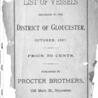 List of vessels belonging to the district of Gloucester (1887)