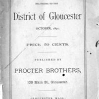 List of vessels belonging to the district of Gloucester (1891)