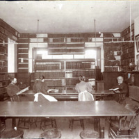 Public library, City Hall, reference room, 1892-99
