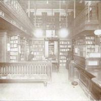 Public library. City Hall. Delivery Room. 1898. Jane L. Benson. Eliz. E. Rule. Helen Austin.