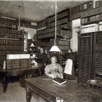 Public library, librarians' room, City Hall, 1898