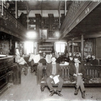 Public library, City Hall, reading room, 1892-1899