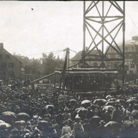 Laying cornerstone of public library, July 23, 1898
