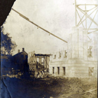 Public library construction work 1900-1902, corner views