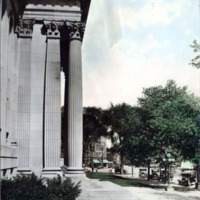 Public library, columns, From West Side.