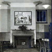 Public library, Shute Branch, children's room, fireplace