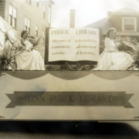 Public library float, Centennial Parade, June 17, 1950