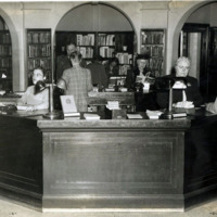 Public Library, central desk Dec. 13, 1946