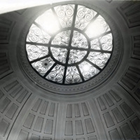 Public library, rotunda dome before redecorating, Nov. 1960