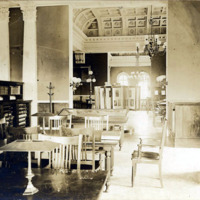Public library, reference room (front), 1927?