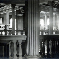 Public library, reference room, columns (close-up), 1928