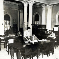 Public library, reference room, 1950