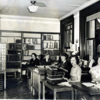 Public Library, catalog room, 1950