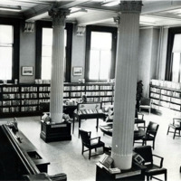 Public library, fiction room, 1975