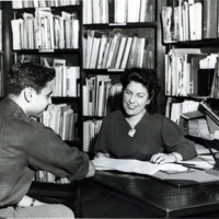Public library, readers' advisor, Louise Boudreau, 1950