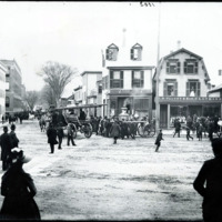 Fire Apparatus at Center Steet and Market Square, circa 1890